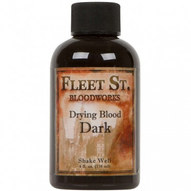 Fleet Street drying dark blood