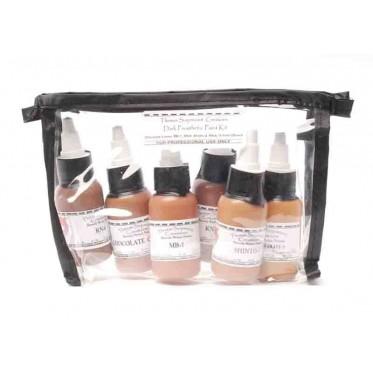 Dark prosthetic paint kit